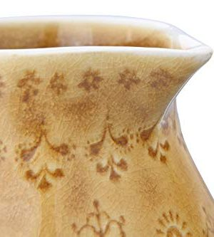 Bloomingville 32 Oz Debossed Stoneware Crackle Glaze Finish Each One Will Vary Pitcher Amber 0 3 300x333