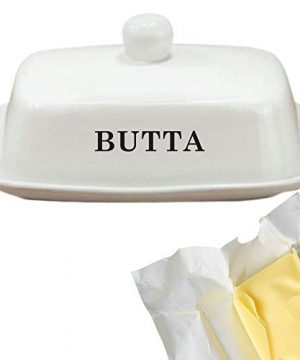 Butter Dish Funny White Ceramic Butter Dish With Lid LARGE Fits Block Of Butter Or 2 Sticks 0 2 300x360