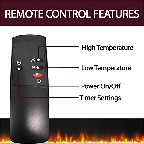 CAMBRIDGE Savona Heater With 59 In White TV Stand Enhanced Log Display Multi Color Flames And Remote CAM6022 1WHTLG3 Electric Fireplace 0 2