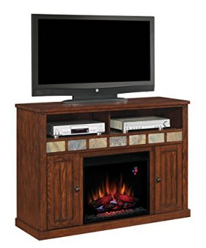 ClassicFlame 23MM0925 O125 23 Sedona TV Stand For TVs Up To 57 Caramel Electric Fireplace Insert Sold Separately 0 300x360