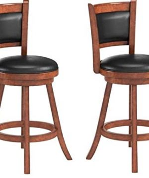 Coaster Home Furnishings CO Swivel Counter Height Stool Chestnut And Black 0 300x360