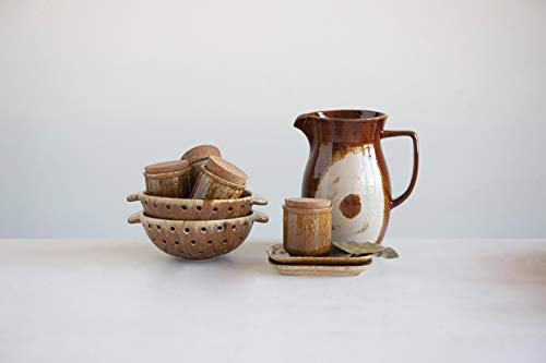Creative Co Op 42 Oz Stoneware Reactive Glaze Finish Each One Will Vary Pitcher Brown 0 1