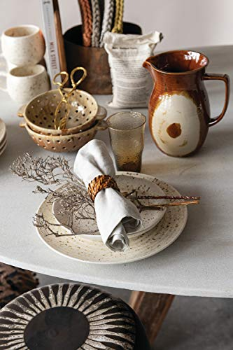 Creative Co Op 42 Oz Stoneware Reactive Glaze Finish Each One Will Vary Pitcher Brown 0 2