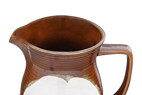 Creative Co Op 42 Oz Stoneware Reactive Glaze Finish Each One Will Vary Pitcher Brown 0 4