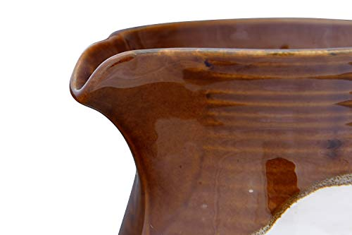 Creative Co Op 42 Oz Stoneware Reactive Glaze Finish Each One Will Vary Pitcher Brown 0 5