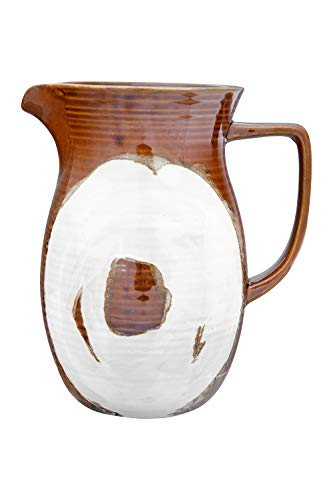 Creative Co Op 42 Oz Stoneware Reactive Glaze Finish Each One Will Vary Pitcher Brown 0