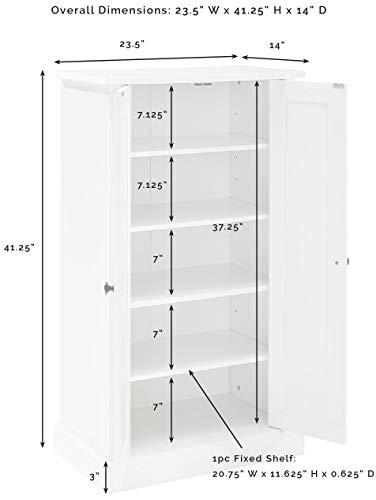 Crosley Furniture Seaside Accent Cabinet White 0 4
