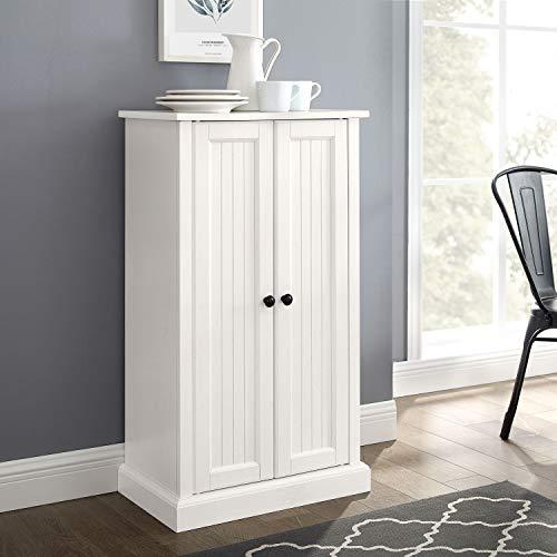 Crosley Furniture Seaside Accent Cabinet White 0 5