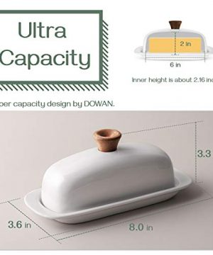 DOWAN Butter Dish With Lid Porcelain Butter Dish With Cover Perfect For East West Butter 0 1 300x360