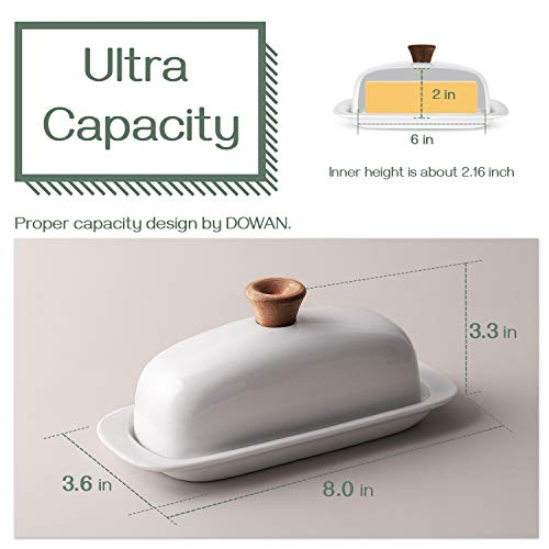 DOWAN Butter Dish With Lid Porcelain Butter Dish With Cover Perfect For East West Butter 0 1