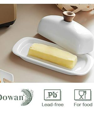 DOWAN Butter Dish With Lid Porcelain Butter Dish With Cover Perfect For East West Butter 0 2 300x360