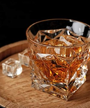 Diamond Cut Whiskey Glass Pair Dishwasher Safe Unique Gift Great For Scotch Or Whiskey 8oz Glass Liquor Or Bourbon Tumblers 2pk By Fine Occasion 0 0 300x360