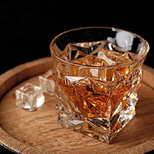 Diamond Cut Whiskey Glass Pair Dishwasher Safe Unique Gift Great For Scotch Or Whiskey 8oz Glass Liquor Or Bourbon Tumblers 2pk By Fine Occasion 0 0