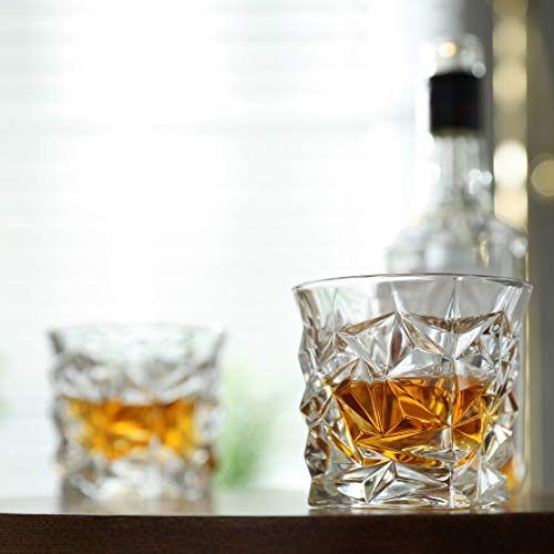 Diamond Cut Whiskey Glass Pair Dishwasher Safe Unique Gift Great For Scotch Or Whiskey 8oz Glass Liquor Or Bourbon Tumblers 2pk By Fine Occasion 0 2