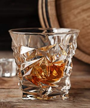Diamond Cut Whiskey Glass Pair Dishwasher Safe Unique Gift Great For Scotch Or Whiskey 8oz Glass Liquor Or Bourbon Tumblers 2pk By Fine Occasion 0 3 300x360