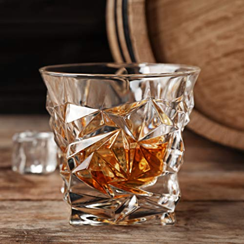 Diamond Cut Whiskey Glass Pair Dishwasher Safe Unique Gift Great For Scotch Or Whiskey 8oz Glass Liquor Or Bourbon Tumblers 2pk By Fine Occasion 0 3