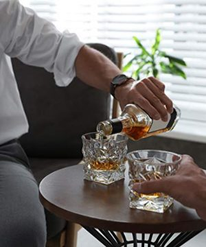 Diamond Cut Whiskey Glass Pair Dishwasher Safe Unique Gift Great For Scotch Or Whiskey 8oz Glass Liquor Or Bourbon Tumblers 2pk By Fine Occasion 0 4 300x360