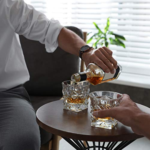 Diamond Cut Whiskey Glass Pair Dishwasher Safe Unique Gift Great For Scotch Or Whiskey 8oz Glass Liquor Or Bourbon Tumblers 2pk By Fine Occasion 0 4