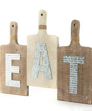 EMAX HOME Large EAT Wood Kitchen Sign For Kitchen Wall DecorRustic Farmhouse Kitchen Wall ArtVintage Wooden Plaque With Eat Letters For KitchenDistressed Finish 15 X 7 Each 0 0 300x360