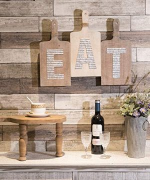 EMAX HOME Large EAT Wood Kitchen Sign For Kitchen Wall DecorRustic Farmhouse Kitchen Wall ArtVintage Wooden Plaque With Eat Letters For KitchenDistressed Finish 15 X 7 Each 0 3 300x360