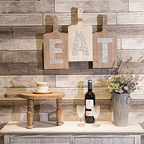 EMAX HOME Large EAT Wood Kitchen Sign For Kitchen Wall DecorRustic Farmhouse Kitchen Wall ArtVintage Wooden Plaque With Eat Letters For KitchenDistressed Finish 15 X 7 Each 0 3