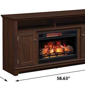Eldersburg Infrared Electric Fireplace TV Stand In Woodland Cherry 26MM6297 PC42 0 0 300x300