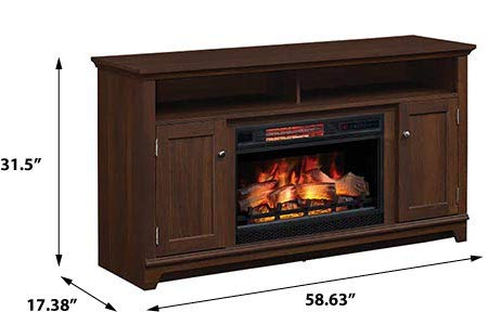 Eldersburg Infrared Electric Fireplace TV Stand In Woodland Cherry 26MM6297 PC42 0 0