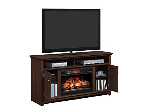 Eldersburg Infrared Electric Fireplace TV Stand In Woodland Cherry 26MM6297 PC42 0 2
