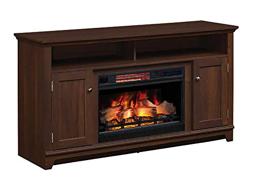 Eldersburg Infrared Electric Fireplace TV Stand In Woodland Cherry 26MM6297 PC42 0