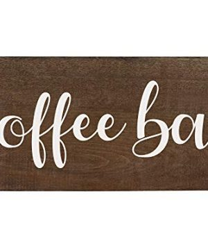 Elegant Signs Coffee Bar Sign Coffee Station Decor Farmhouse Kitchen Plaque 55x12 Rustic Wood Wall Art Office Decoration Or Counter Accent 0 0 300x360