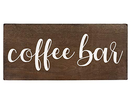 Elegant Signs Coffee Bar Sign Coffee Station Decor Farmhouse Kitchen Plaque 55x12 Rustic Wood Wall Art Office Decoration Or Counter Accent 0 0