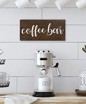 Elegant Signs Coffee Bar Sign Coffee Station Decor Farmhouse Kitchen Plaque 55x12 Rustic Wood Wall Art Office Decoration Or Counter Accent 0 3 300x360