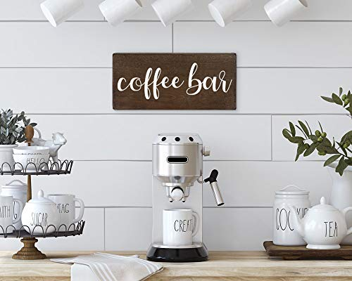 Elegant Signs Coffee Bar Sign Coffee Station Decor Farmhouse Kitchen Plaque 55x12 Rustic Wood Wall Art Office Decoration Or Counter Accent 0 3