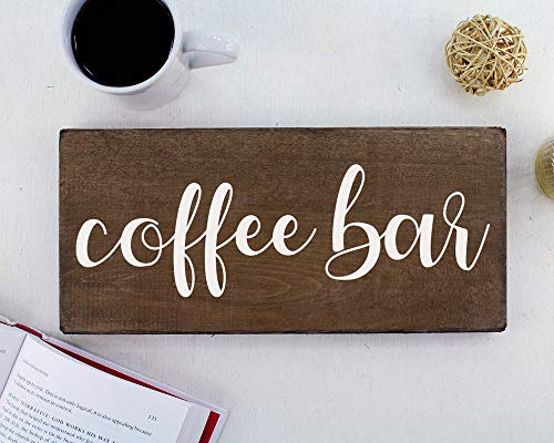 Elegant Signs Coffee Bar Sign Coffee Station Decor Farmhouse Kitchen Plaque 55x12 Rustic Wood Wall Art Office Decoration Or Counter Accent 0 4