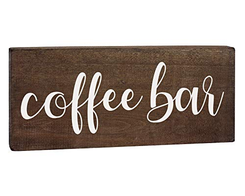Elegant Signs Coffee Bar Sign Coffee Station Decor Farmhouse Kitchen Plaque 55x12 Rustic Wood Wall Art Office Decoration Or Counter Accent 0