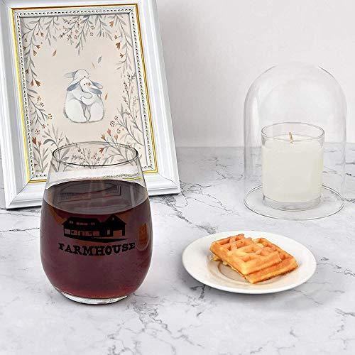 Farmhouse Stemless Wine GlassWine Taster Glasses For Men Decorative Wine Glass Etched Wine Glass Sandblasted Engraved Wine Glass 0 1