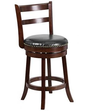 Flash Furniture 26 Cappuccino Wood Stool Black 0 300x360