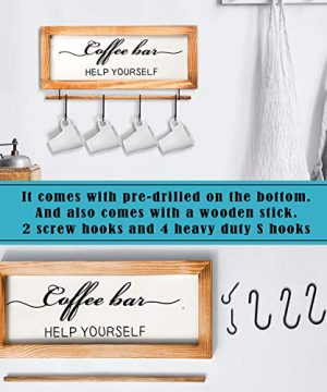 Flinelife Coffee Bar Sign Witch Better Have My Coffee 2 Sides Farmhouse Kitchen Decor Rustic Kitchen Sign Kitchen Wall Decor Rustic Home Decor Vintage Coffee Signs For Coffee Bar 17x7 Inch 0 1 300x360