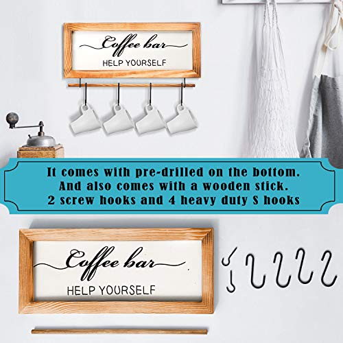 Flinelife Coffee Bar Sign Witch Better Have My Coffee 2 Sides Farmhouse Kitchen Decor Rustic Kitchen Sign Kitchen Wall Decor Rustic Home Decor Vintage Coffee Signs For Coffee Bar 17x7 Inch 0 1