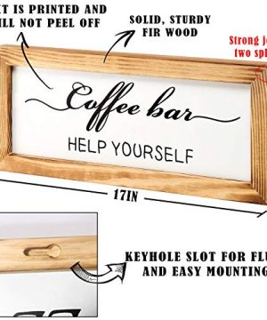 Flinelife Coffee Bar Sign Witch Better Have My Coffee 2 Sides Farmhouse Kitchen Decor Rustic Kitchen Sign Kitchen Wall Decor Rustic Home Decor Vintage Coffee Signs For Coffee Bar 17x7 Inch 0 2 300x360
