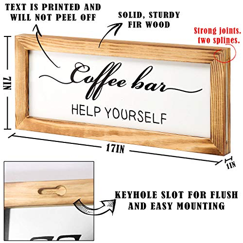 Flinelife Coffee Bar Sign Witch Better Have My Coffee 2 Sides Farmhouse Kitchen Decor Rustic Kitchen Sign Kitchen Wall Decor Rustic Home Decor Vintage Coffee Signs For Coffee Bar 17x7 Inch 0 2