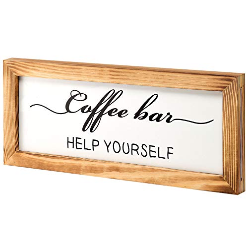 Flinelife Coffee Bar Sign Witch Better Have My Coffee 2 Sides Farmhouse Kitchen Decor Rustic Kitchen Sign Kitchen Wall Decor Rustic Home Decor Vintage Coffee Signs For Coffee Bar 17x7 Inch 0