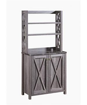 Furniture Of America Schuetz Farmhouse Wood Rectangle Kitchen Cabinet In Gray 0 300x360