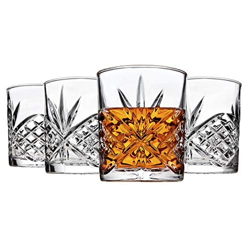 Godinger Old Fashioned Whiskey Glasses Shatterproof And Reusable Acrylic Dublin Collection Set Of 4 0 0