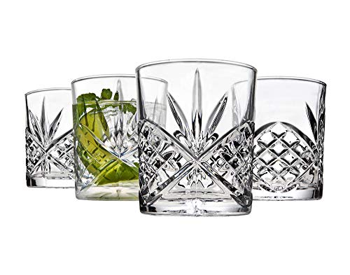 Godinger Old Fashioned Whiskey Glasses Shatterproof And Reusable Acrylic Dublin Collection Set Of 4 0