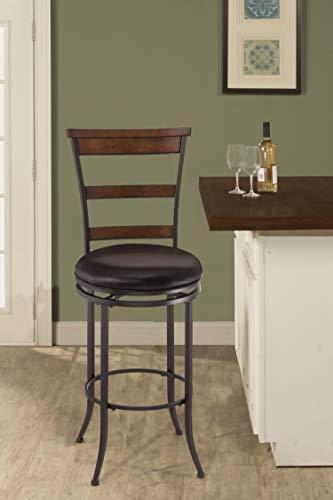 Hillsdale Furniture Cameron Swivel Ladder Back Bar Stool Chestnut Brown 0 0