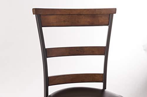 Hillsdale Furniture Cameron Swivel Ladder Back Bar Stool Chestnut Brown 0 1