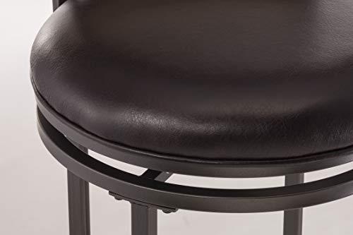 Hillsdale Furniture Cameron Swivel Ladder Back Bar Stool Chestnut Brown 0 2