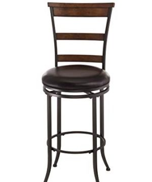 Hillsdale Furniture Cameron Swivel Ladder Back Bar Stool Chestnut Brown 0 300x360