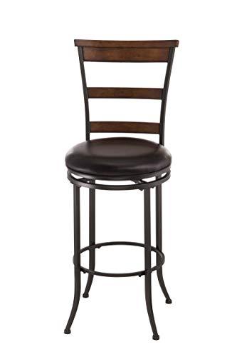 Hillsdale Furniture Cameron Swivel Ladder Back Bar Stool Chestnut Brown 0
